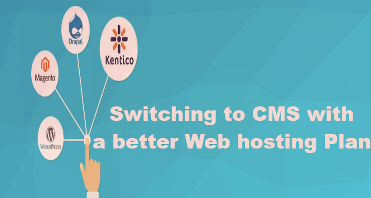 Switching to CMS with a better Web hosting Plan.